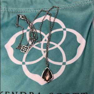 EUC Brown MOP Silver Kendra Scott Cory necklace